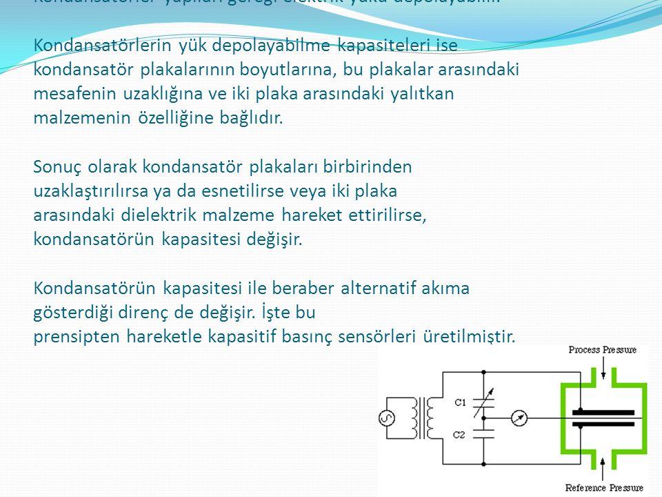 Kondansatörler yapıları gereği elektrik yükü depolayabilir