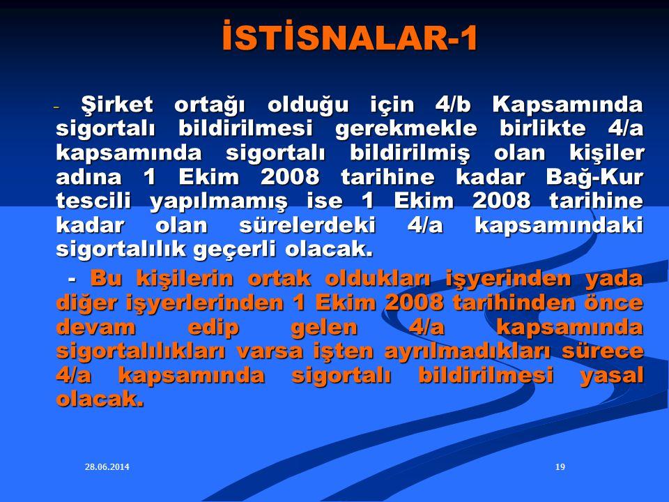İSTİSNALAR-1