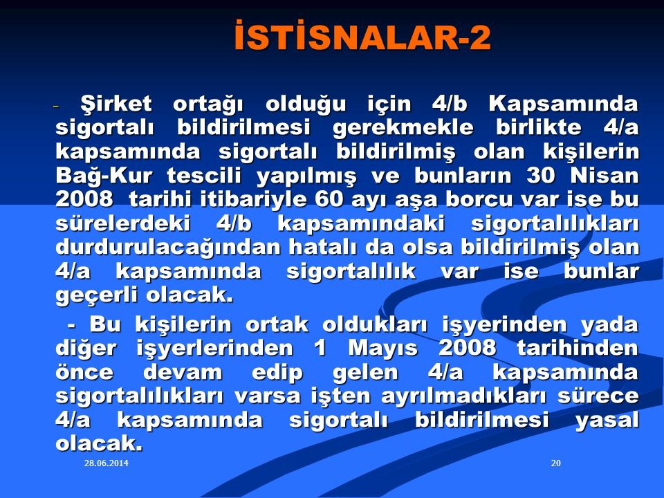 İSTİSNALAR-2