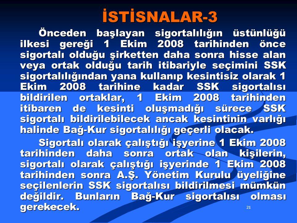 İSTİSNALAR-3