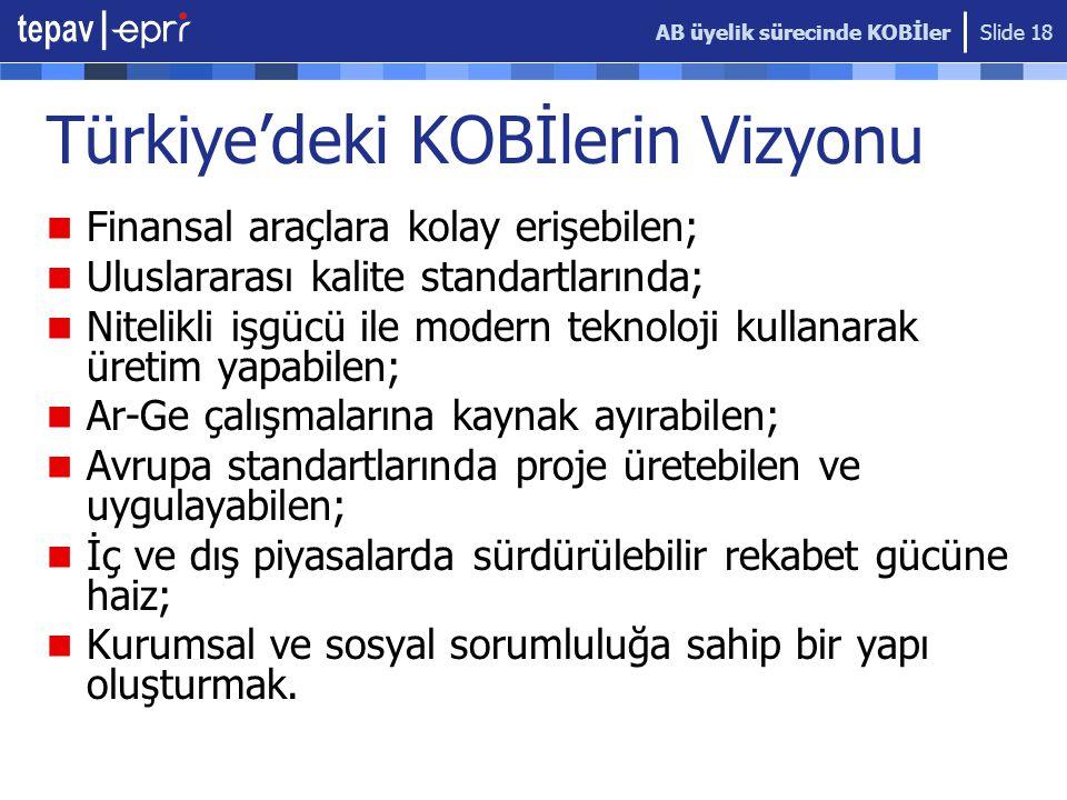Türkiye'deki KOBİlerin Vizyonu