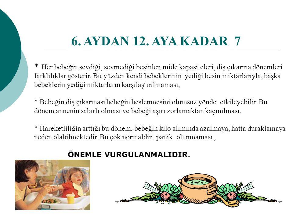 6. AYDAN 12. AYA KADAR 7