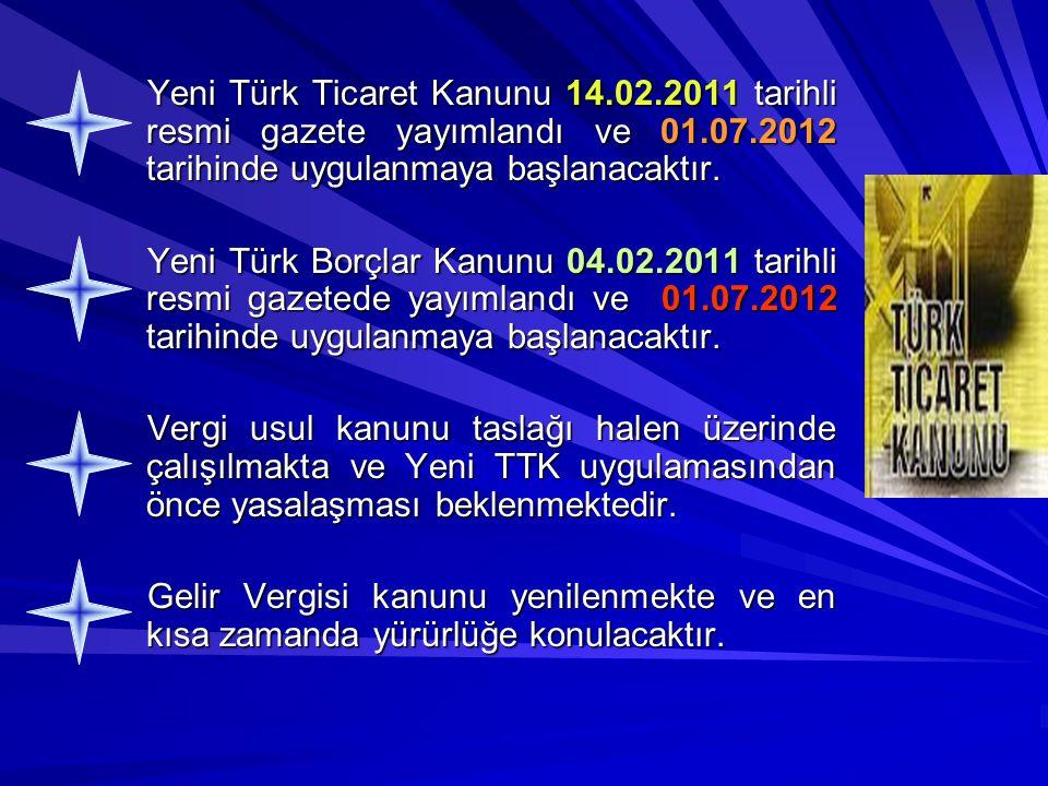 Yeni Türk Ticaret Kanunu 14. 02