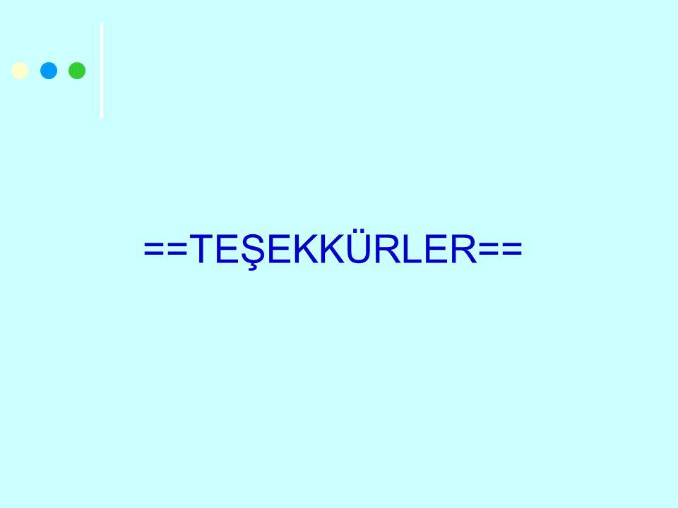 ==TEŞEKKÜRLER==