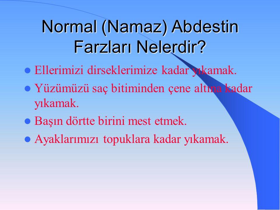 Normal (Namaz) Ab destin Farzları Nelerdir