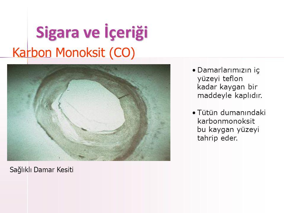 Sigara ve İçeriği Karbon Monoksit (CO)