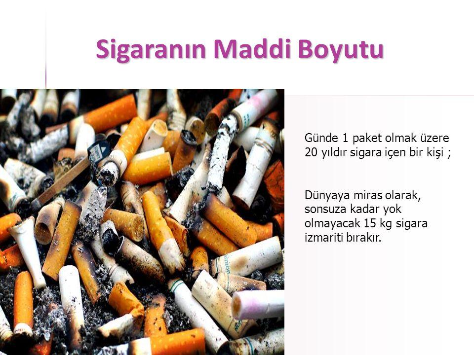 Sigaranın Maddi Boyutu