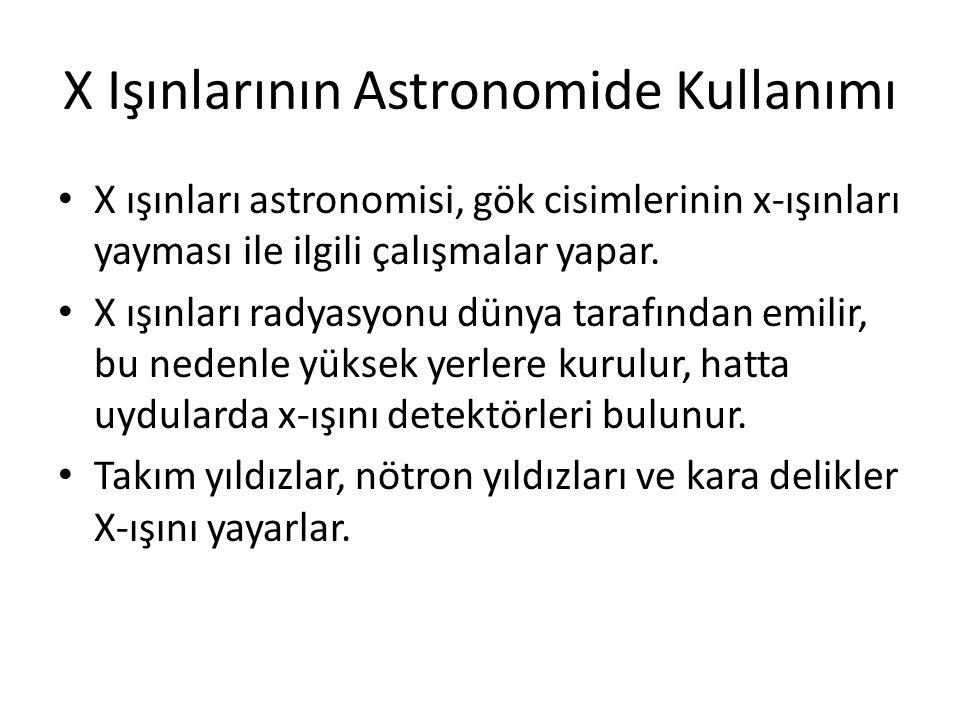 X Işınlarının Astronomide Kullanımı
