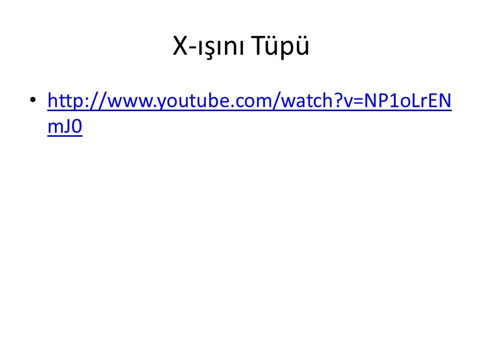 X-ışını Tüpü http://www.youtube.com/watch v=NP1oLrENmJ0