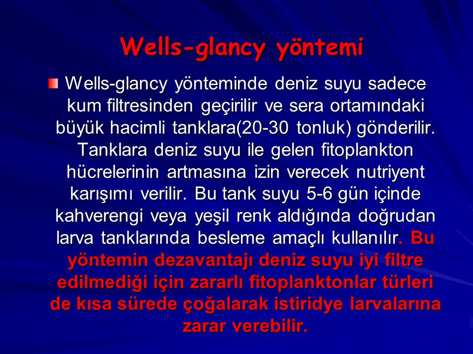 Wells-glancy yöntemi