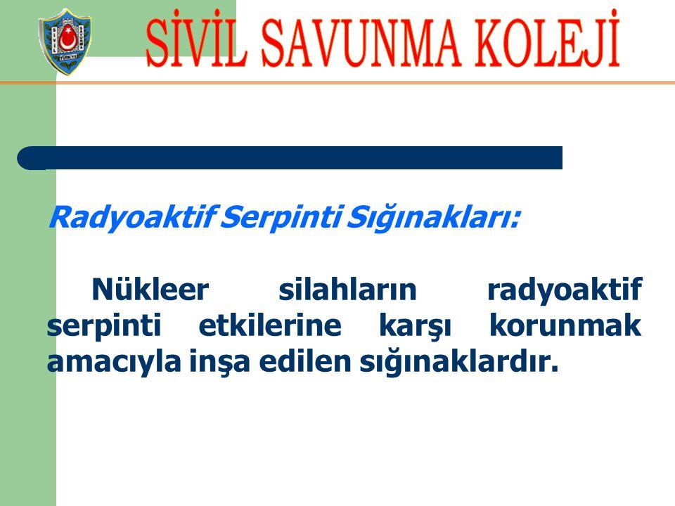 Radyoaktif Serpinti Sığınakları: