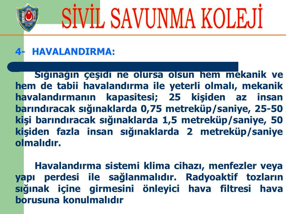 4- HAVALANDIRMA:
