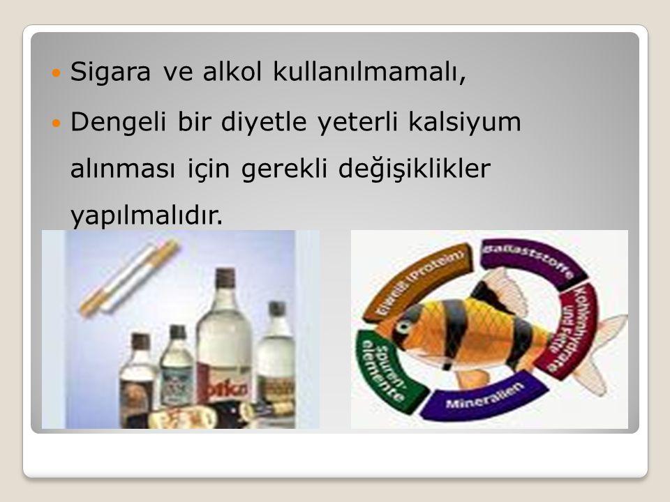 Sigara ve alkol kullanılmamalı,