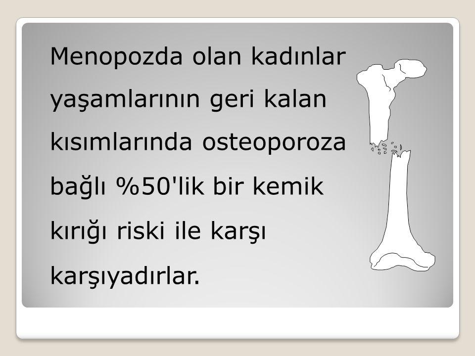 Menopozda olan kadınlar yaşamlarının geri kalan kısımlarında osteoporoza