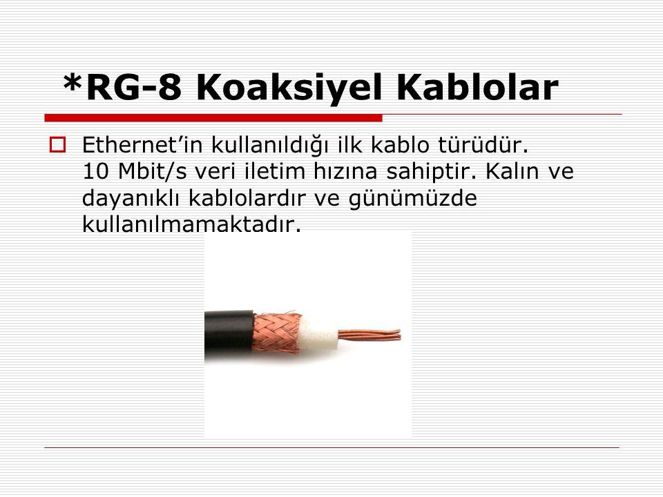 *RG-8 Koaksiyel Kablolar