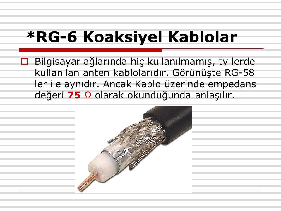 *RG-6 Koaksiyel Kablolar
