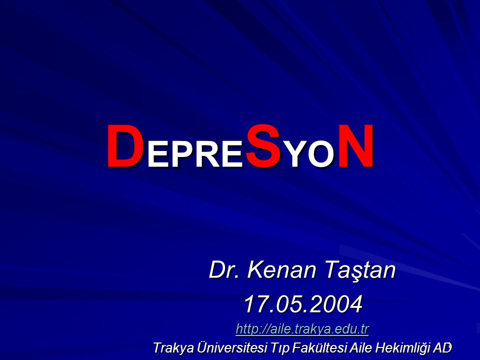 Trakya Üniversitesi Tıp Fakültesi Aile Hekimliği AD