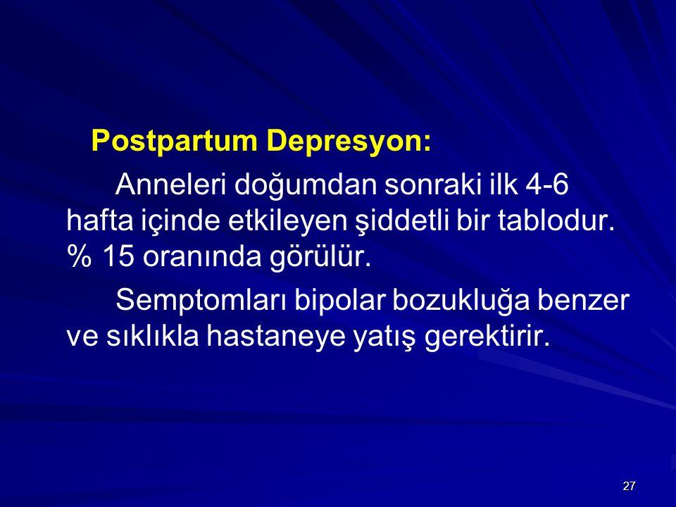 Postpartum Depresyon:
