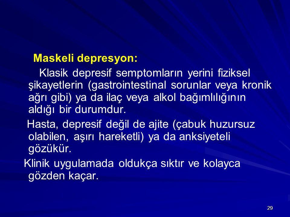 Maskeli depresyon: