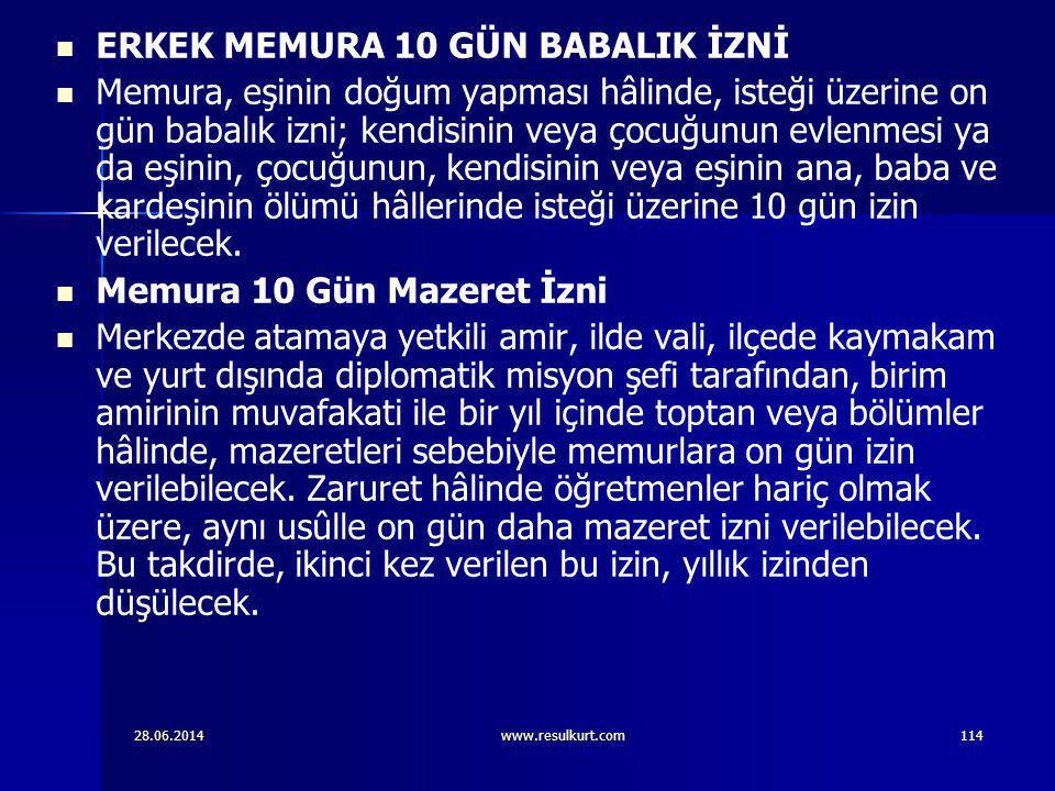 ERKEK MEMURA 10 GÜN BABALIK İZNİ