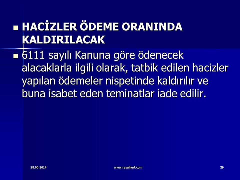 HACİZLER ÖDEME ORANINDA KALDIRILACAK