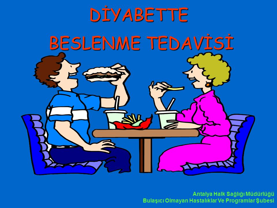 DİYABETTE BESLENME TEDAVİSİ