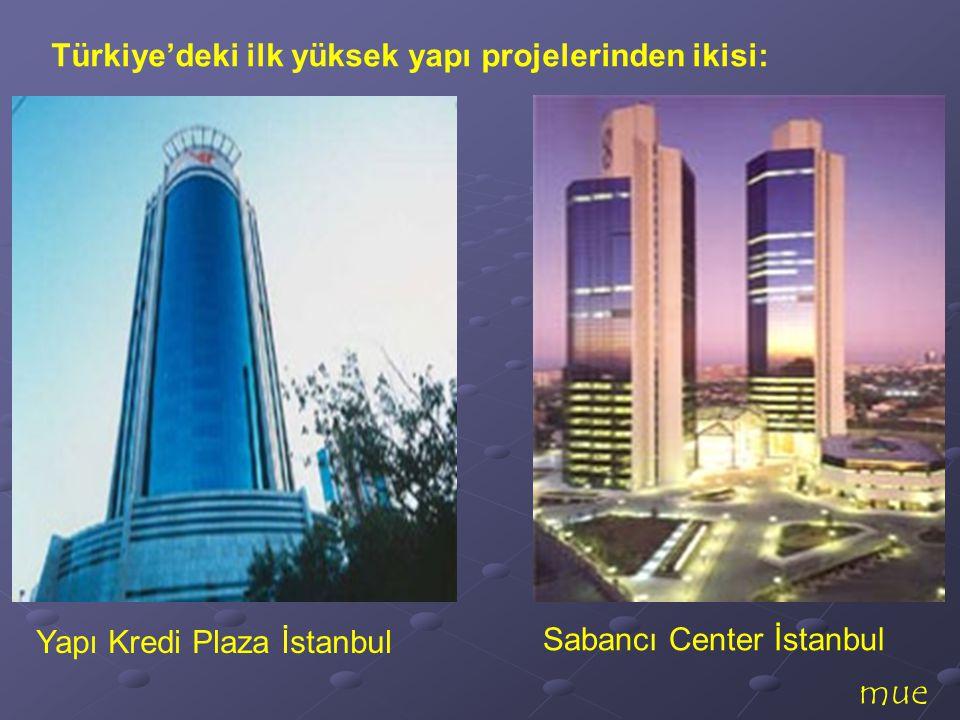 mue Türkiye'deki ilk yüksek yapı projelerinden ikisi: