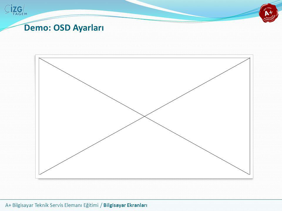 Demo: OSD Ayarları