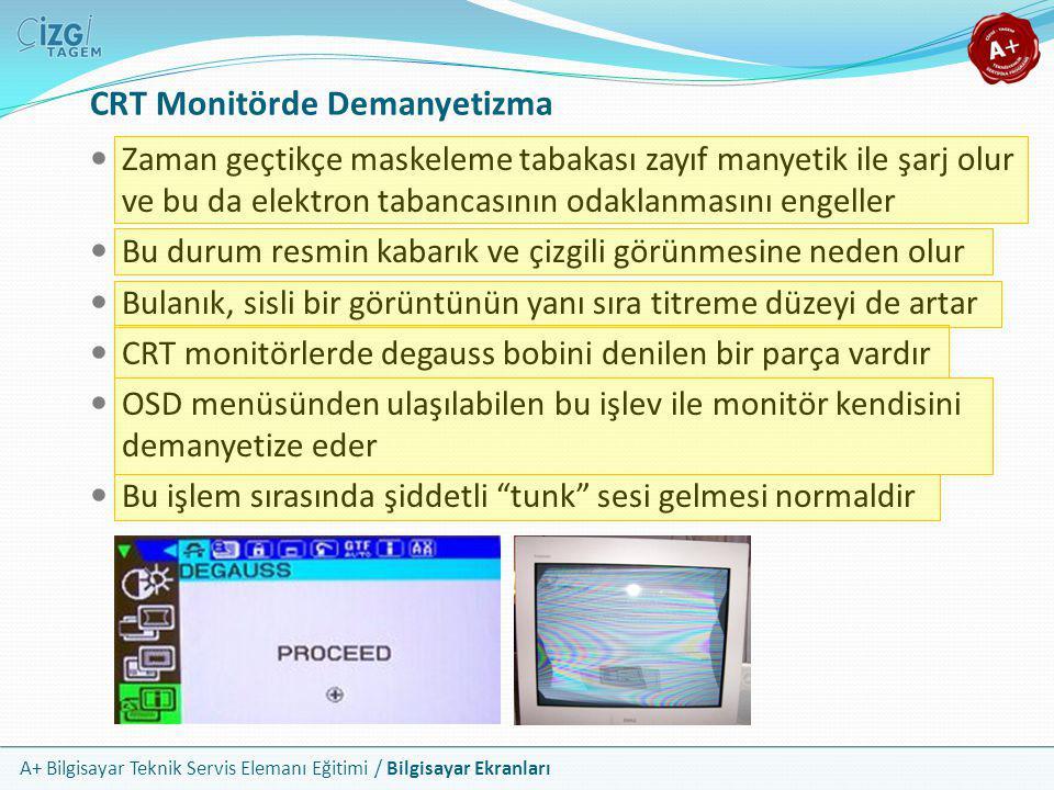 CRT Monitörde Demanyetizma