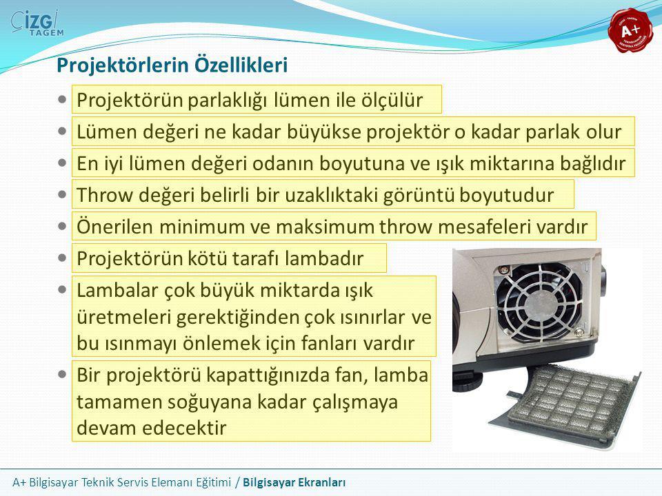 Projektörlerin Özellikleri