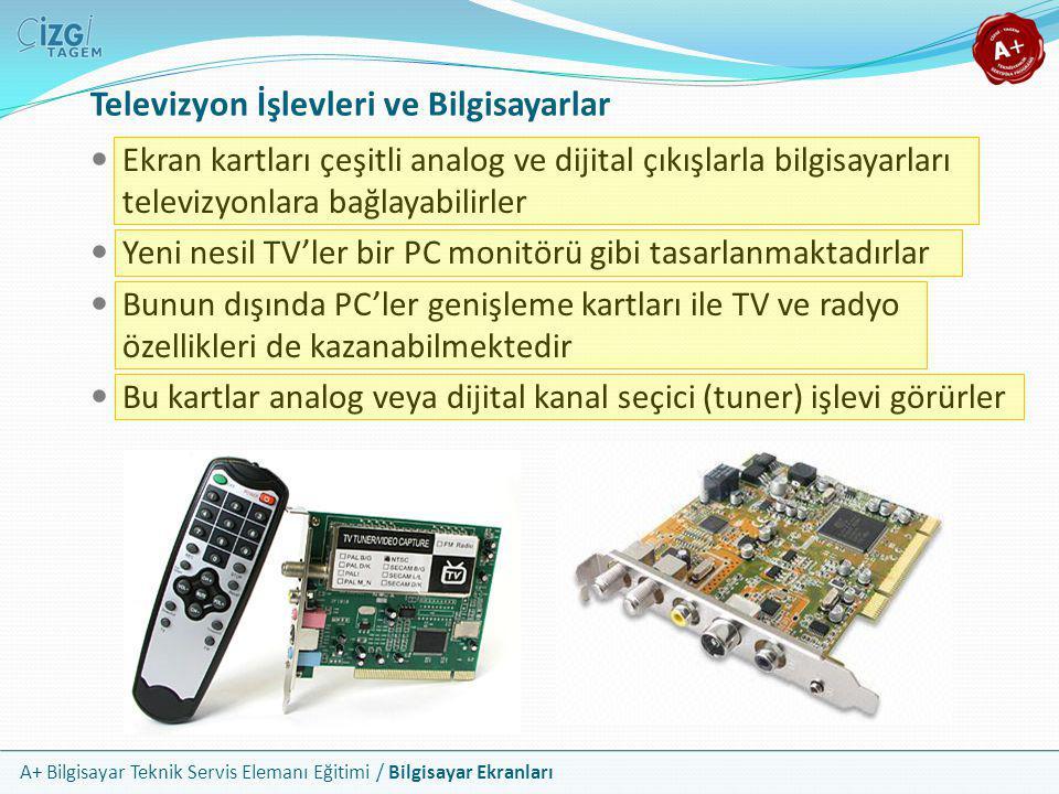 Televizyon İşlevleri ve Bilgisayarlar