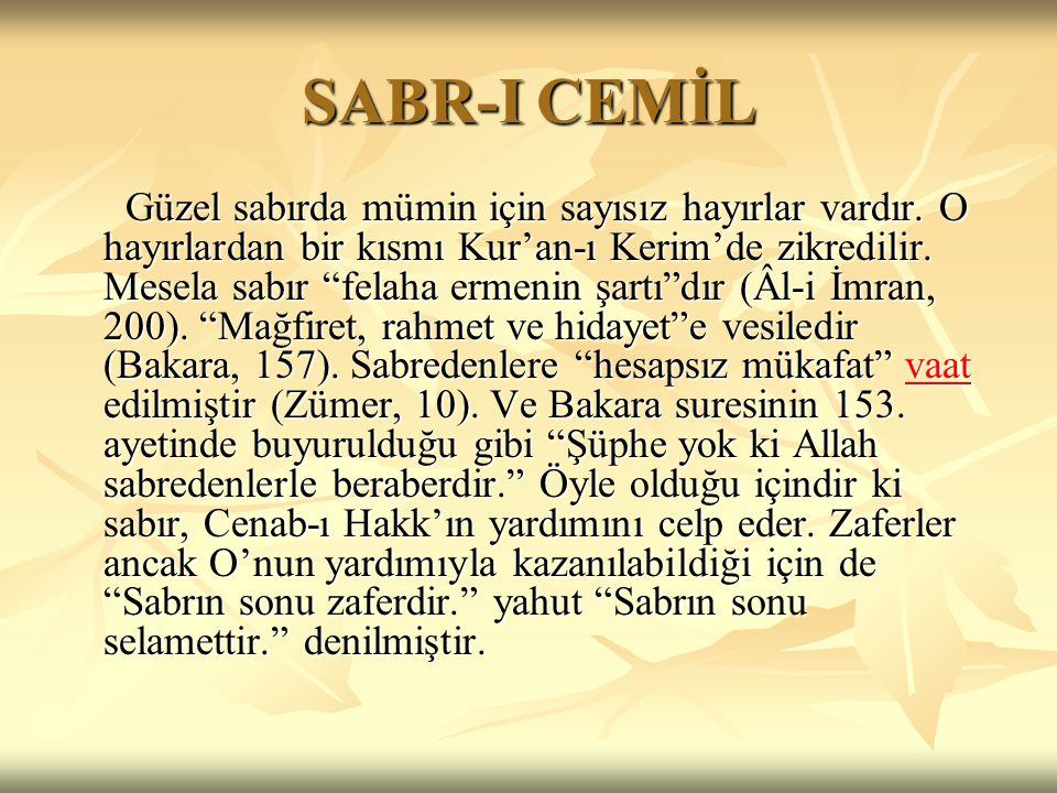 SABR-I CEMİL