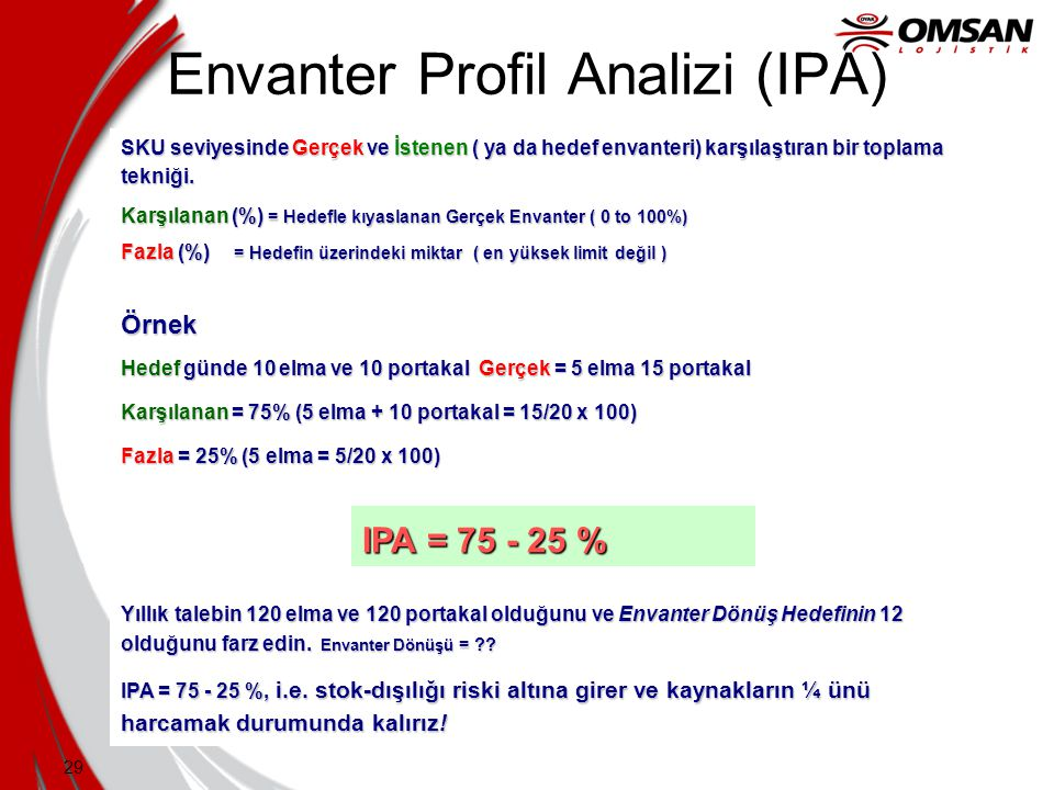 Envanter Profil Analizi (IPA)