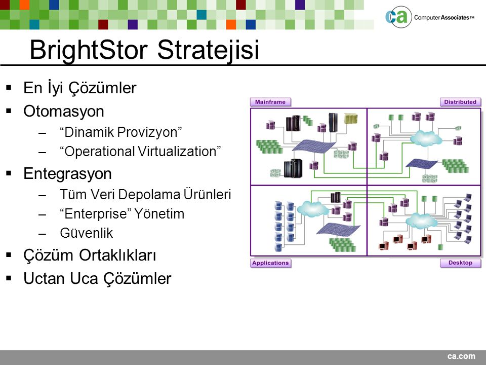 BrightStor Stratejisi