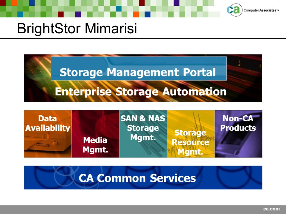 Storage Management Portal Enterprise Storage Automation