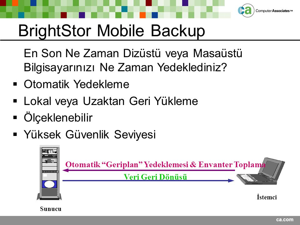 BrightStor Mobile Backup