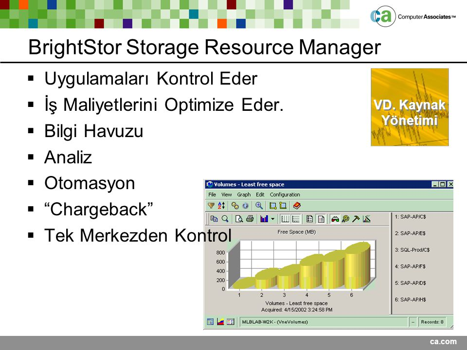 BrightStor Storage Resource Manager