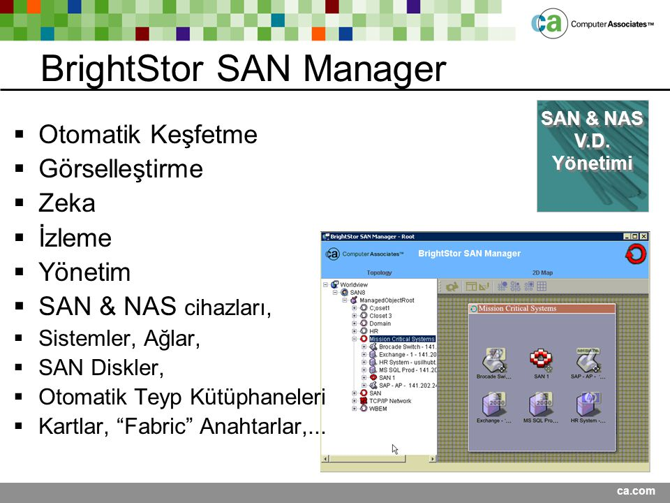 BrightStor SAN Manager