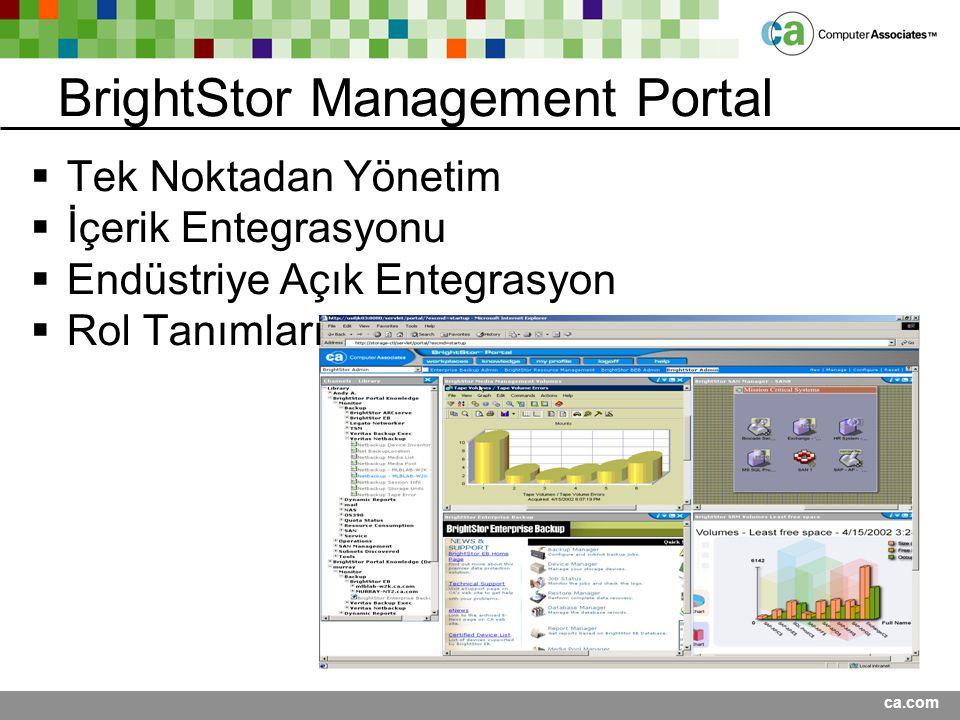BrightStor Management Portal