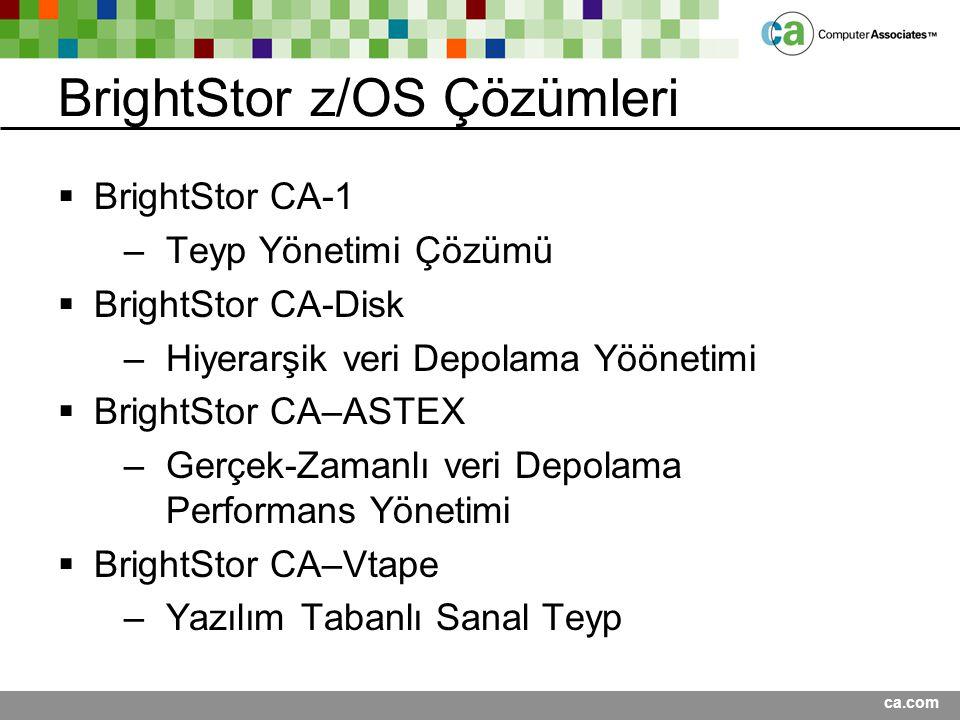 BrightStor z/OS Çözümleri