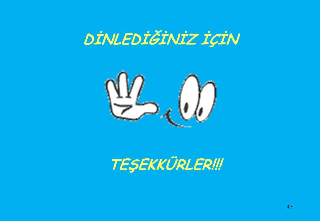 DİNLEDİĞİNİZ İÇİN TEŞEKKÜRLER!!!
