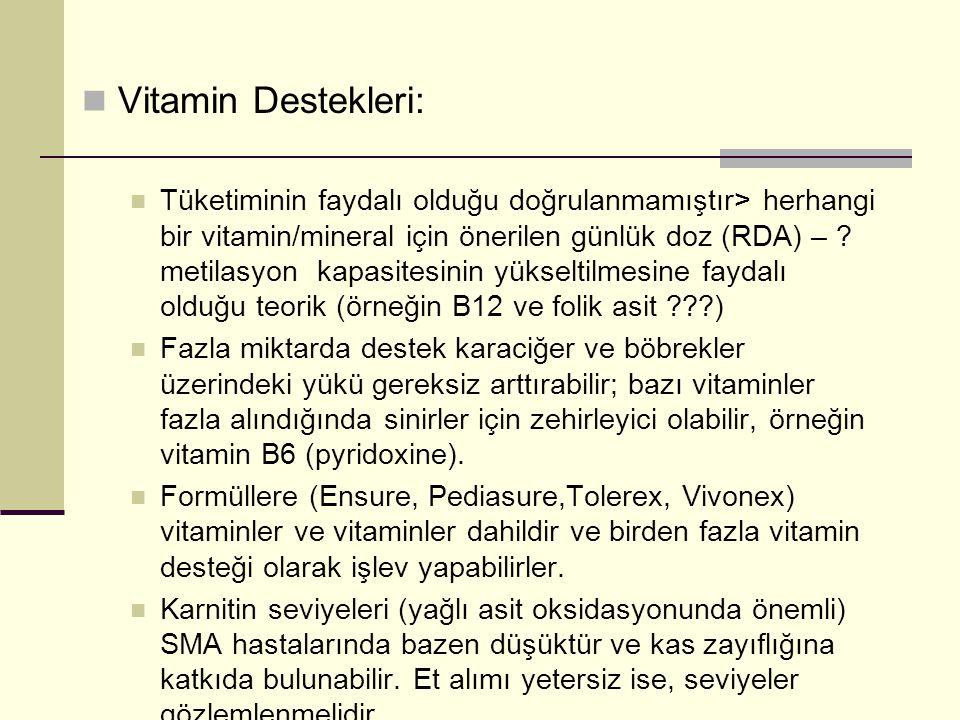 Vitamin Destekleri: