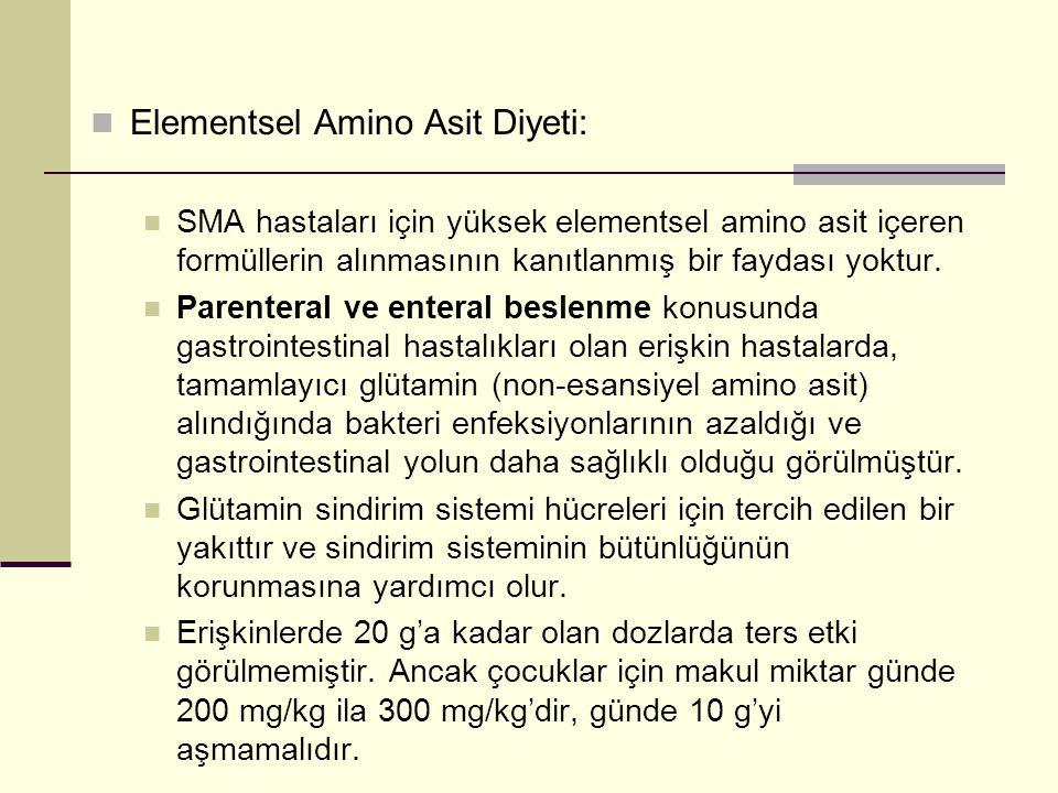 Elementsel Amino Asit Diyeti: