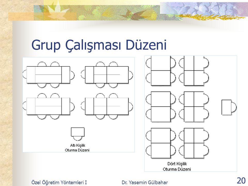 Grup Çalışması Düzeni Özel Öğretim Yöntemleri I Dr. Yasemin Gülbahar
