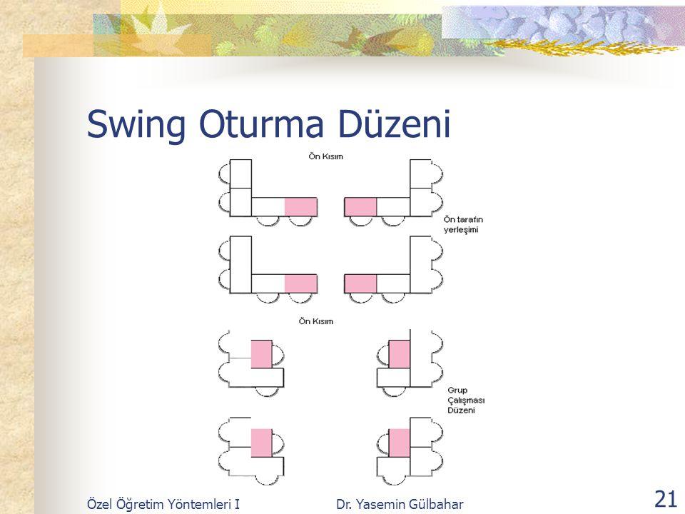 Swing Oturma Düzeni Özel Öğretim Yöntemleri I Dr. Yasemin Gülbahar