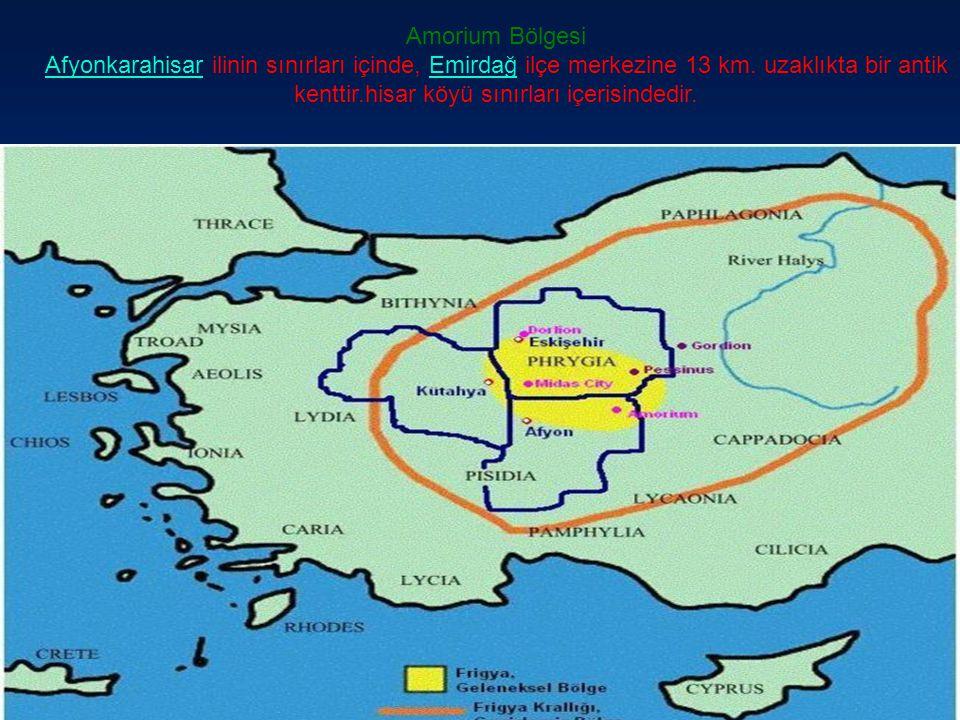 Amorium Bölgesi Afyonkarahisar ilinin sınırları içinde, Emirdağ ilçe merkezine 13 km.