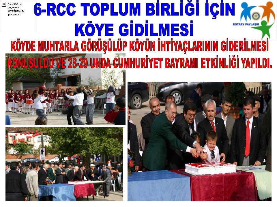 6-RCC TOPLUM BİRLİĞİ İÇİN KÖYE GİDİLMESİ
