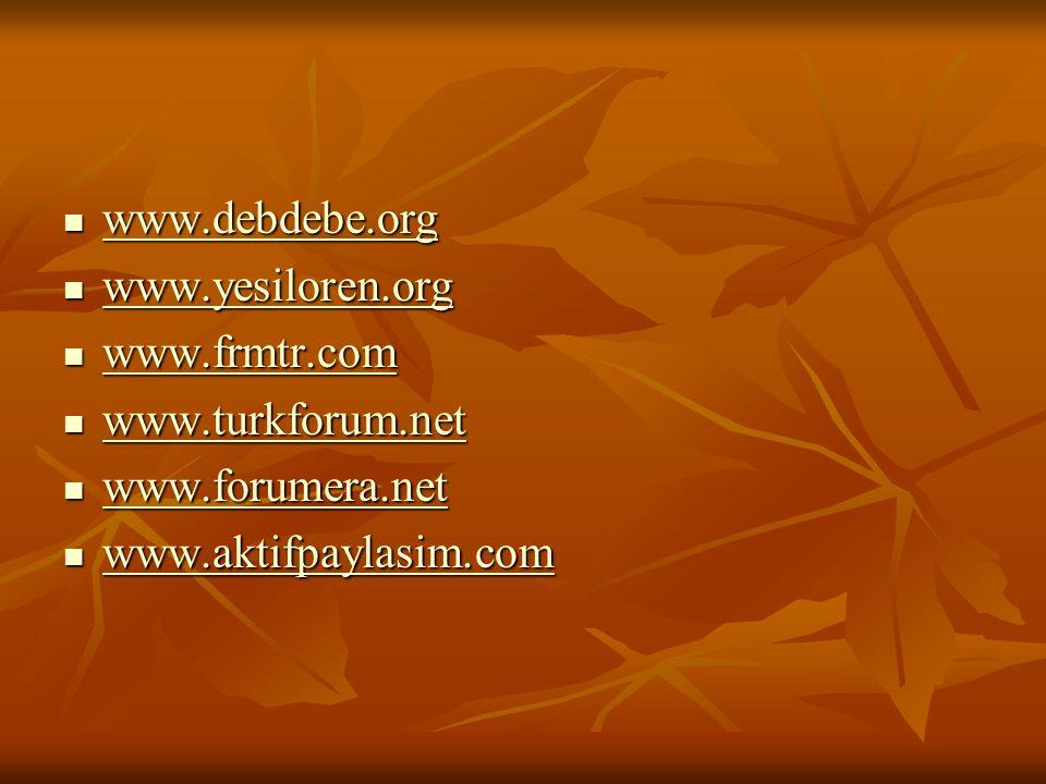 www.debdebe.org www.yesiloren.org. www.frmtr.com.