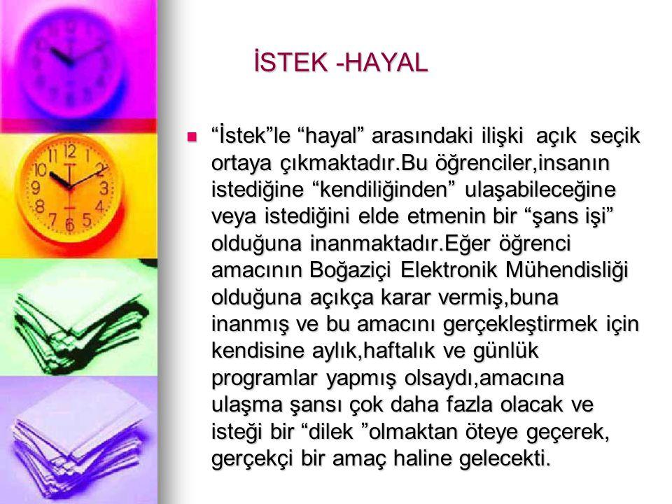 İSTEK -HAYAL