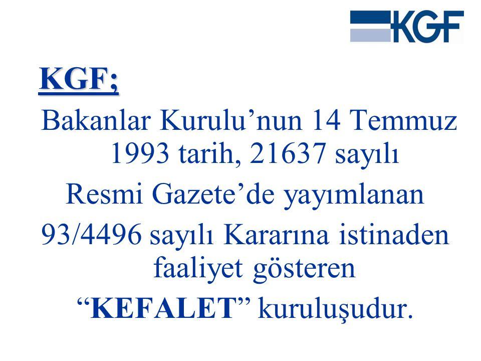 KGF; Bakanlar Kurulu'nun 14 Temmuz 1993 tarih, 21637 sayılı
